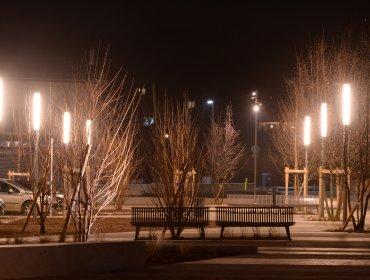 Eclairage public, place de Saint Jean de Moirans