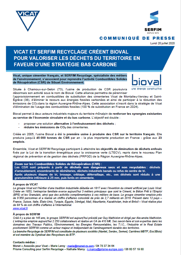 CP Bioval - SERFIM Recyclage